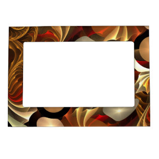 Copper Sci-Fi Abstract Art Magnetic Frame