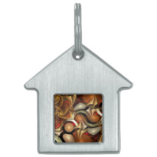 Copper Sci-Fi Abstract Art Pet Tags