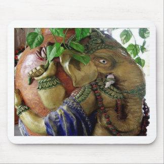 Copper Sculpture : India Vintage Elephant Ganesh Mouse Pad