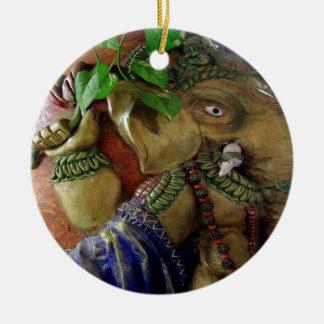Copper Sculpture : India Vintage Elephant Ganesh Christmas Tree Ornament