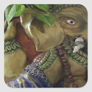 Copper Sculpture : India Vintage Elephant Ganesh Sticker