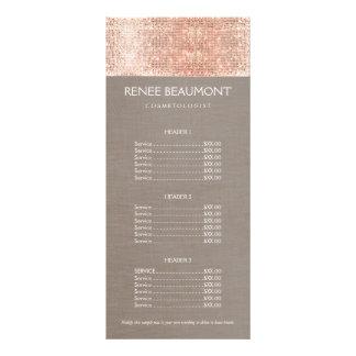 Copper Sequins Hairstylist Hair Salon Price Menu