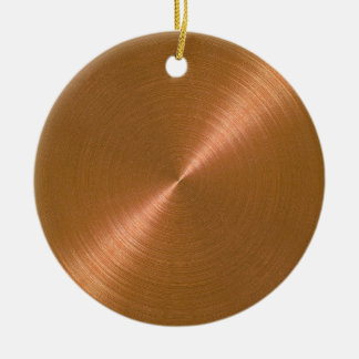 Copper Sheen Christmas Personalized Ornament