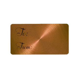 Copper Sheen Gift Tag Label