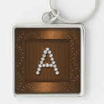 Copper Shimmer and Sparkle with Monogram Keychains