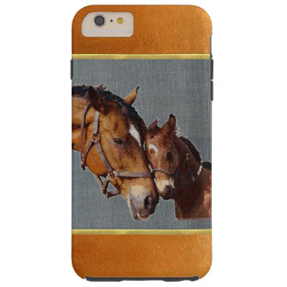 Copper Shimmer Pony Mom iPhone 6 Plus Case