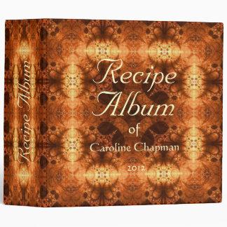 "Copper Shimmer Recipe Album 2"" 3 Ring Binder"