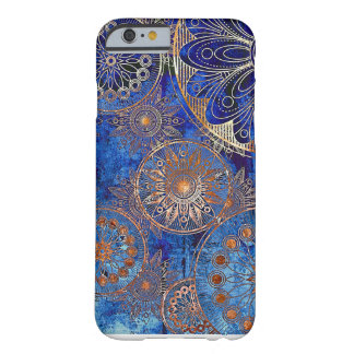 Copper Snow on Blue Barely There iPhone 6 Case