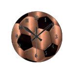 Copper Soccer Ball Clock