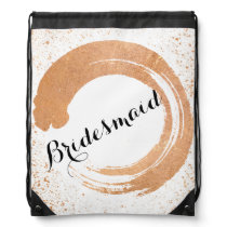 Copper Spray Wedding Collection Gifts Drawstring Backpack
