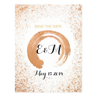 Copper Spray Wedding Collection Save The Date Postcard