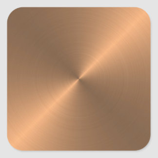 Copper Square Sticker