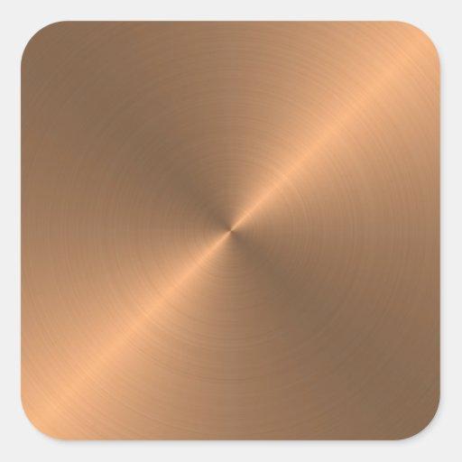 Copper Square Sticker