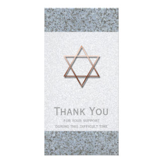 Copper Star of David Stone 1 Sympathy Thank You Card
