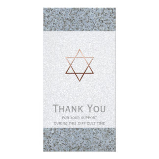 Copper Star of David Stone 2 Sympathy Thank You Card