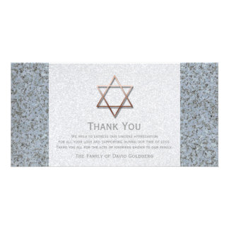 Copper Star of David Stone 3 Sympathy Thank You Card