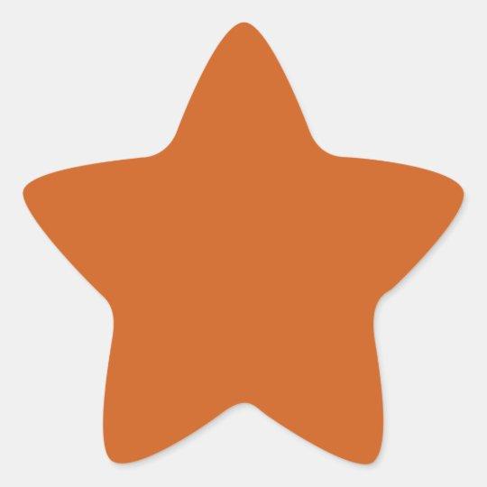 Copper Star Sticker