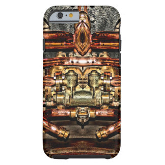 copper steam engine train - steampunk engineer tough iPhone 6 case