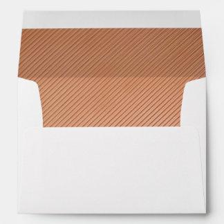 Copper stripes design envelope