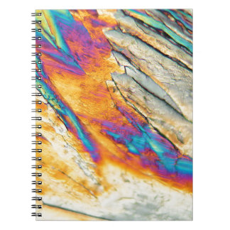 Copper sulfate under the microscope spiral notebook