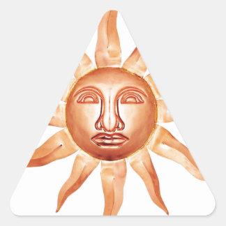 COPPER SUN ABSTRACT TRIANGLE STICKER