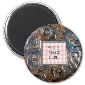 Copper Swirls Round Template Magnet