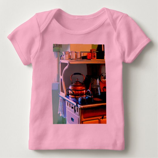Copper Tea Kettle on Stove Baby T-Shirt