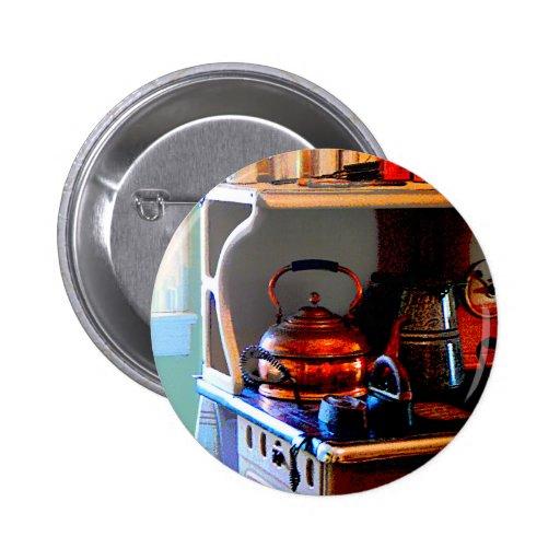 Copper Tea Kettle on Stove Pin