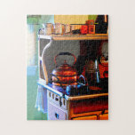 Copper Tea Kettle on Stove Puzzle