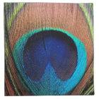 Copper/Teal/Blue Peacock Feather Napkin