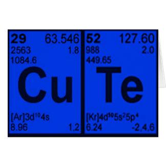 """Copper Tellurium """"CuTe"""" Blue Mens Geek Nerdy Card"""