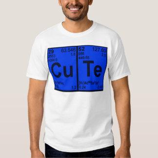 "Copper Tellurium ""CuTe"" Blue Mens Geek Nerdy T Shirts"
