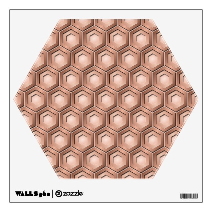 Copper Tiled Hex Wall Decal
