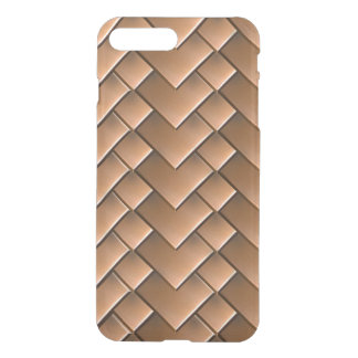 Copper Tiles iPhone X/8/7 Plus Clear Case