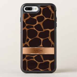 Copper Tones Stylized Leopard Pattern OtterBox Symmetry iPhone 7 Plus Case