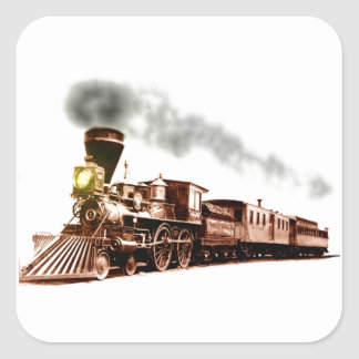Copper Train Square Sticker