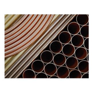 Copper tubing postcard