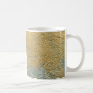 Copper Turquoise Faux Finish Coffee Mug