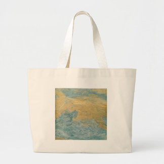 Copper Turquoise Faux Finish Large Tote Bag