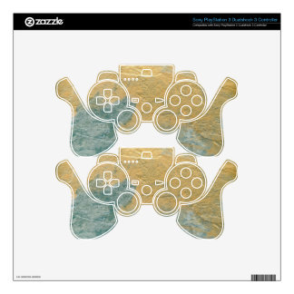 Copper Turquoise Faux Finish PS3 Controller Skins