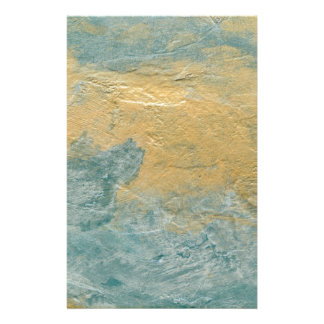 Copper Turquoise Faux Finish Stationery