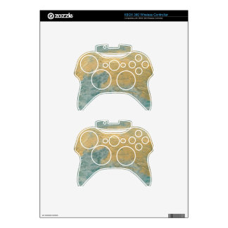 Copper Turquoise Faux Finish Xbox 360 Controller Skin