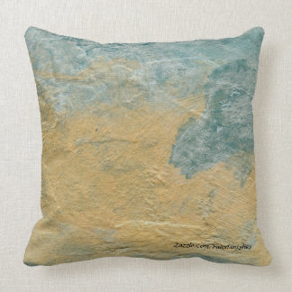 Copper Turquoise Faux Stone Pattern Throw Pillows