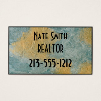 Copper Turquoise Realtor Business Card