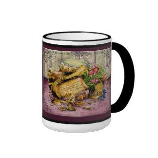 Copper Wedding Anniversary: Jupigio-Artwork.com Ringer Coffee Mug