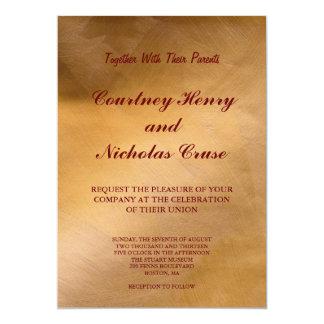 Copper Wedding Card