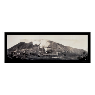 Copper Yampa Smelter Photo 1909 Poster