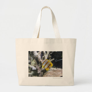 Copperband Butterflyfish Large Tote Bag