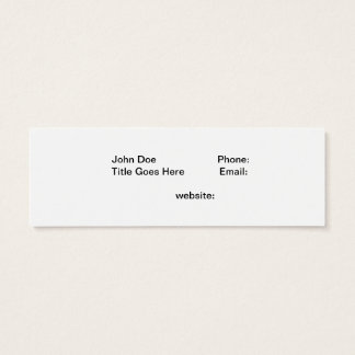 Copperband Butterflyfish Mini Business Card