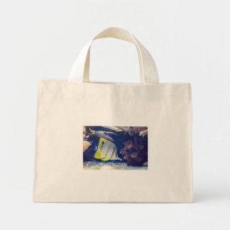 Copperband Butterflyfish Mini Tote Bag